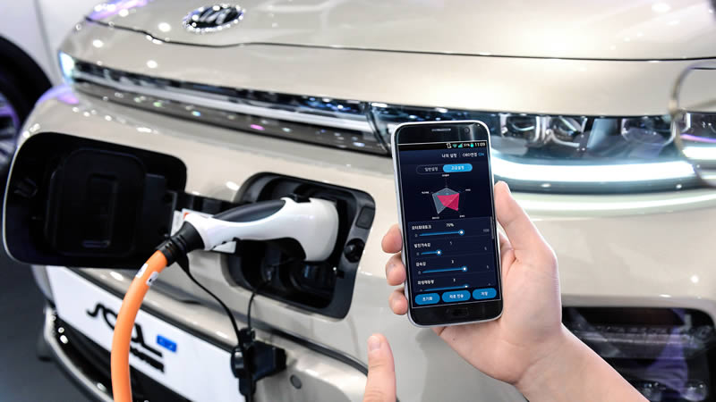 Technologie řízení výkonu elektromotoru prostřednictvím chytrého telefonu